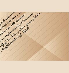 old vintage letter vector image