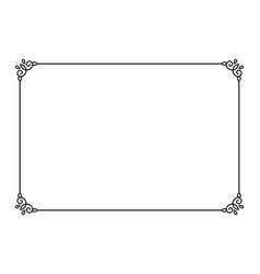 Ornamental decorative page frame line style vector
