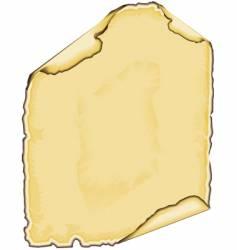 parchment edge vector image