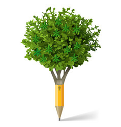 pencil in the form of a tree vector image