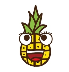 Pineapple character isolated icon design vector