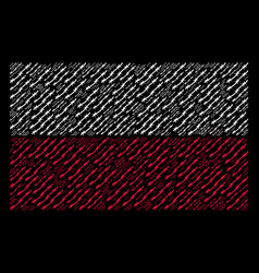 polish flag pattern of barbed wire items vector image