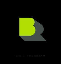 R is a shadow b letter br monogram vector