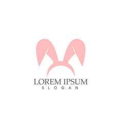 rabbit logo template icon design vector image