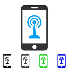 Radio control smartphone flat icon vector