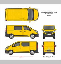 Renault trafic combi delivery van l1h1 2014 vector