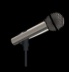 Rock stage microphone vector