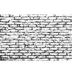 Rough brick wall vector