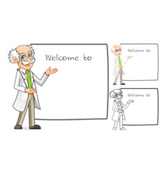 Scientist with Welcoming Arms vector