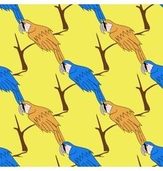 Seamless Bird Pattern vector image