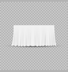 table with tablecloth isolated on a transparent vector image