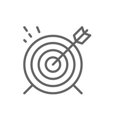 Target goal line icon vector