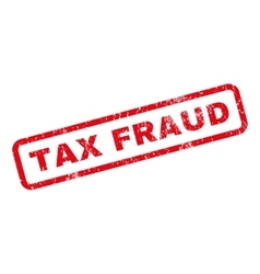 Tax Fraud Rubber Stamp vector image