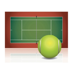 Tennis Court and Ball vector image