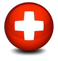 The flag of Switzerland in a ball vector