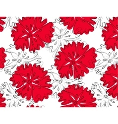 The pattern of red flowers vector image