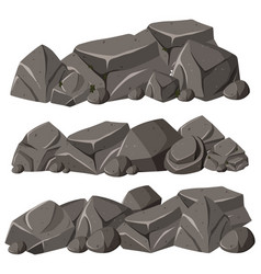 three patterns of rocks in pile vector image