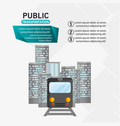 train passenger public transport urban infographic vector image