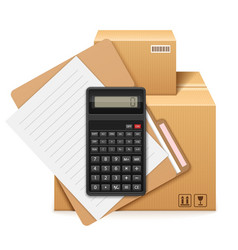 Two cardboard boxes folder vector
