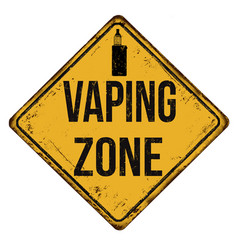 Vaping zone vintage rusty metal sign vector