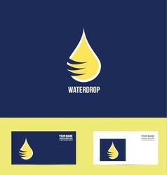 Water drop logo icon flat design vector