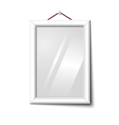 white isolated vertical photo frame hanging vector image