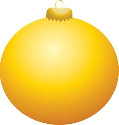 Yellow Ball Ornament vector image