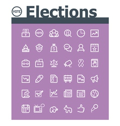 Elections icon set vector image vector image