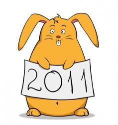 fat rabbit vector image vector image