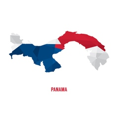 Map of Panama a vector image