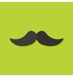 Mustache Christmas Flat Icon vector image vector image