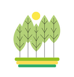 Natural trees ecology with spring season vector