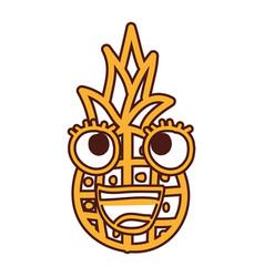 Pineapple fruit kawaii character vector