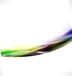 Abstract flow colorful background vector image vector image