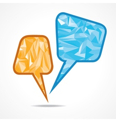 Abstract speech bubble with triangle vector image vector image
