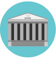 Bank icon flat design vector image vector image