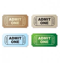 movie ticket vector image