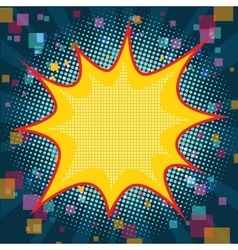 Comic pop art blue Christmas background vector image vector image