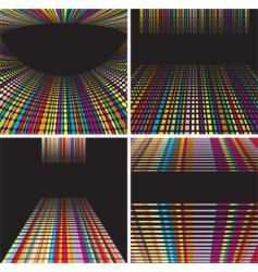 digital backdrop set vector image