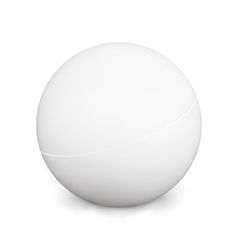 Ping Pong Ball White Photo Realistic 3d With vector image vector image