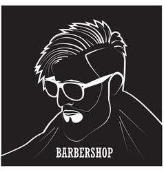 salon stylish hairdresser vector image