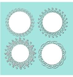 vintage lace frames vector image vector image