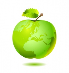 apple earth vector image vector image