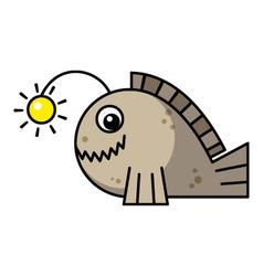 Cartoon frogfish vector image vector image
