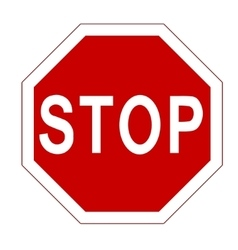 Red stop sign vector