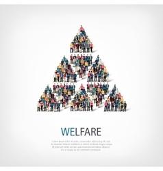 Welfare people sign vector