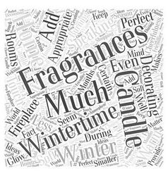 Wintertime Home Decorating Word Cloud Concept vector image vector image