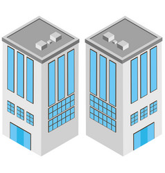 3d design for white building with many windows vector image