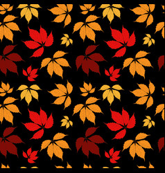 abstract autumn leaves seamless pattern background vector image