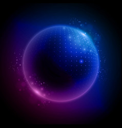 Abstract futuristic cyber ball vector